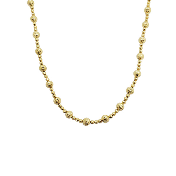 Flashing Beads Necklace (14K)