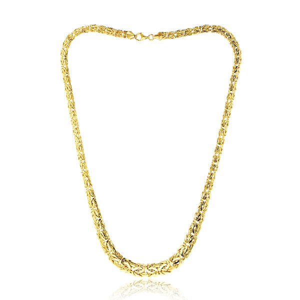 Flat Byzantine Chain Necklace (14K) Popular Jewelry New York