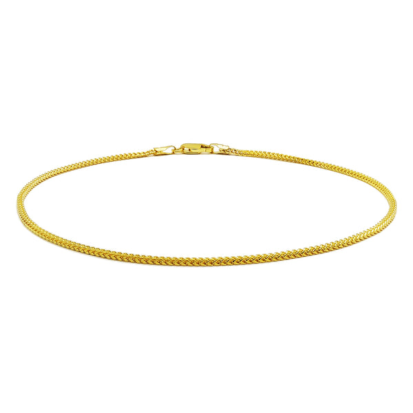 Ouro amarelo de 14 quilates de Franco Anklet (14K), Popular Jewelry nova York