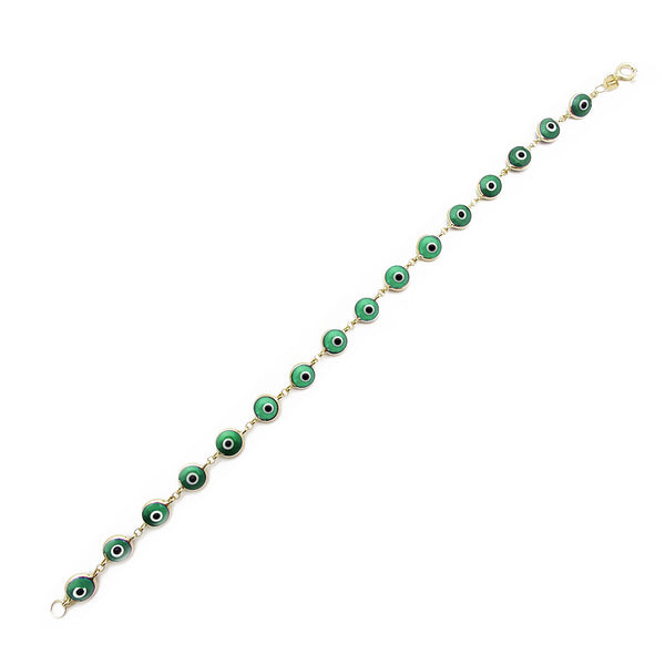 Brățară Green Evil Eyes (14K) Popular Jewelry New York