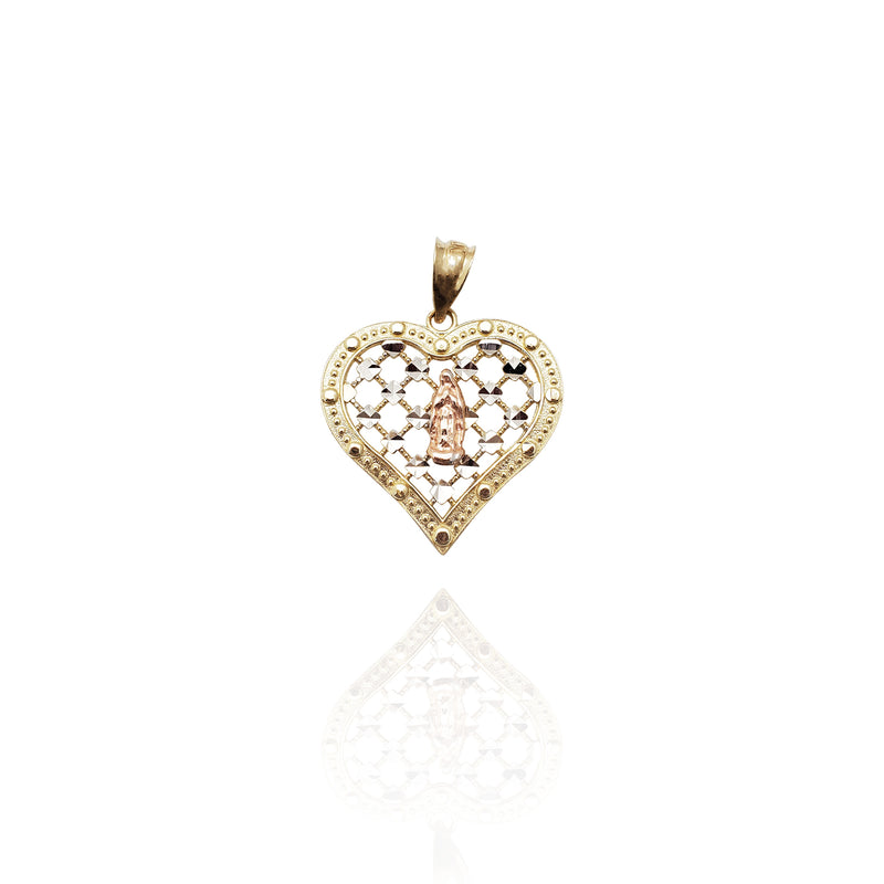 Guadalupe Heart Pendant (14K)