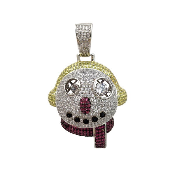 Privjesak za hip-hop snijeg od hip-howa (srebrni) Popular Jewelry New York