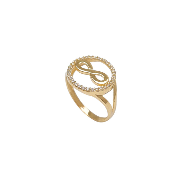 Halo Pave Infinity Ring (14K) Popular Jewelry New York