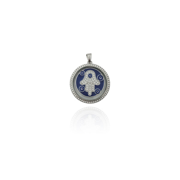 Colgante Hamsa Locket CZ (Prata) Nova York Popular Jewelry