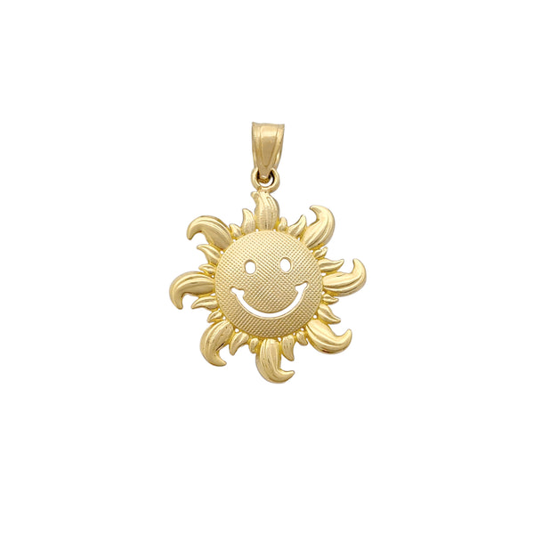 Happy Face Sun Pendant (14K) Popular Jewelry New York