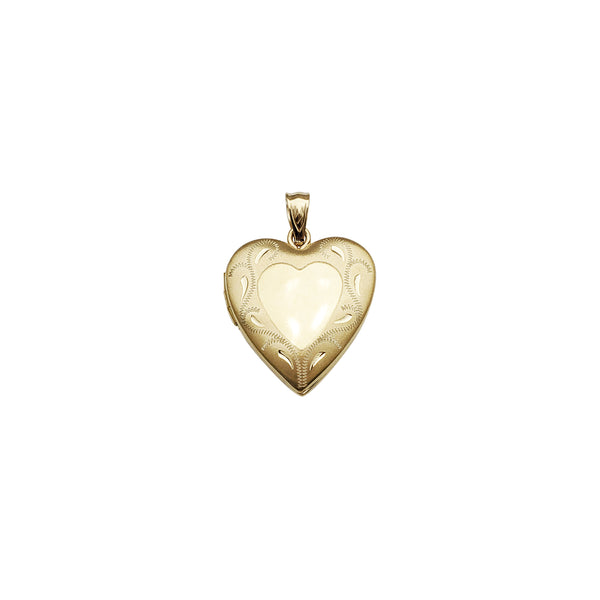 Heart Shape Locket Pendant (14K)