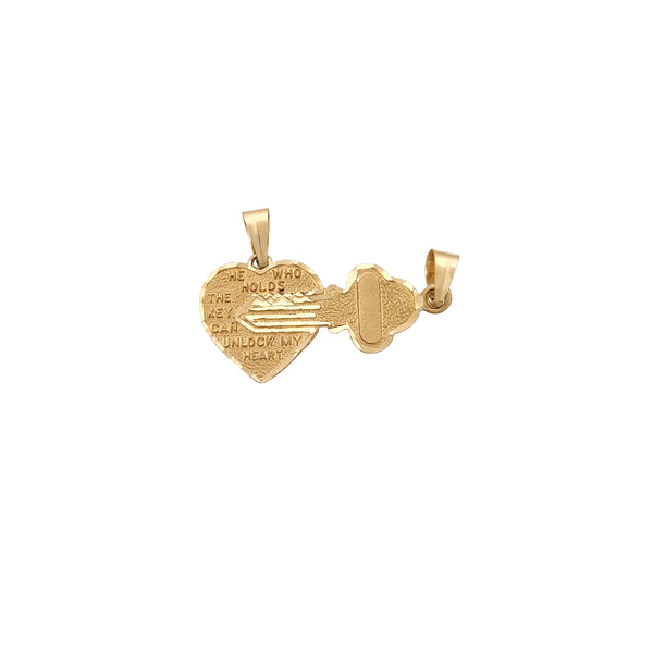Подвеска Heart & Key (14K) Popular Jewelry Нью-Йорк