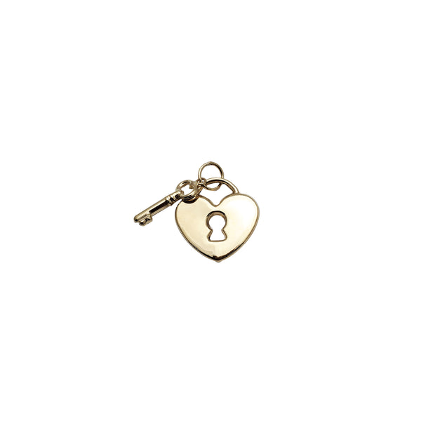 Locked Heart & Key Pendant (14K)
