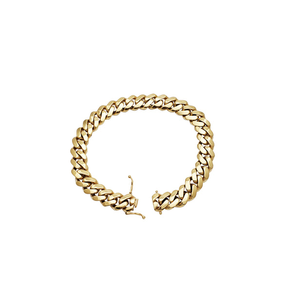 Hollow Miami Cuban Bracelet (14K)