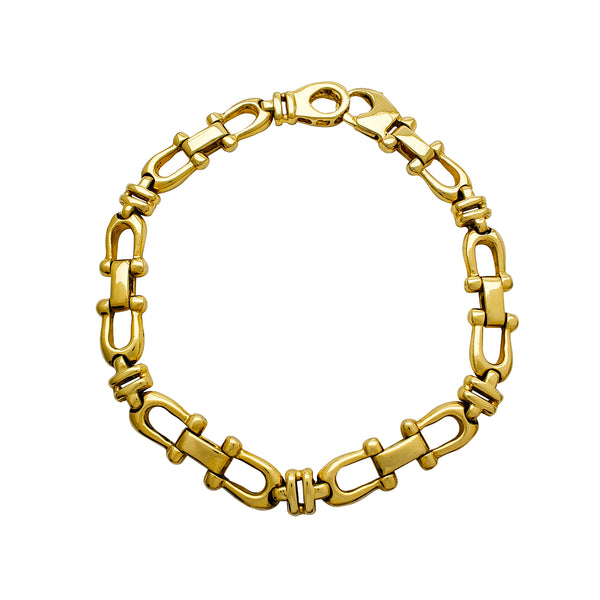 Horseshoe Link Bracelet (14K) Popular Jewelry New York