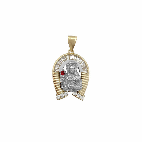 Horseshoe Saint Barbara Pendant (10K) Popular Jewelry New York