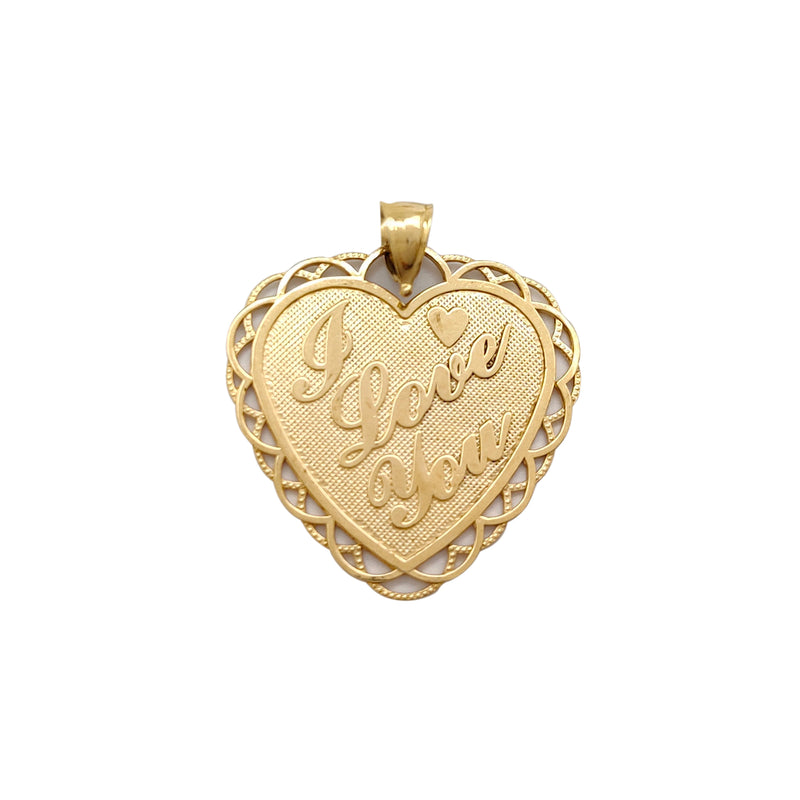 I Love You Heart Pendant (14K) Popular Jewelry New York