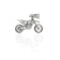 Iced-Out Motorcycle Pendant (Silver)