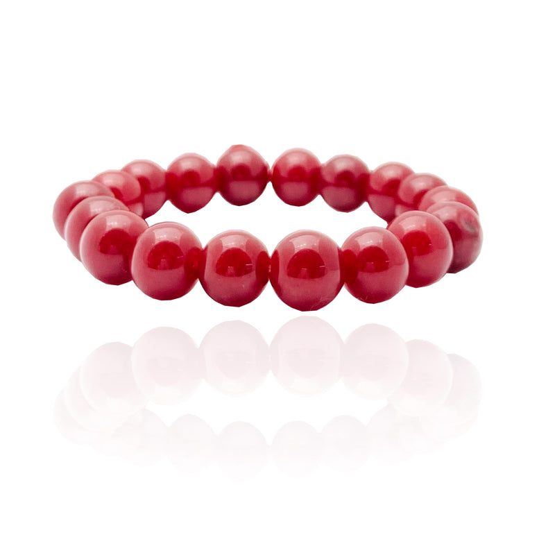 Red Jade Bead Bracelet