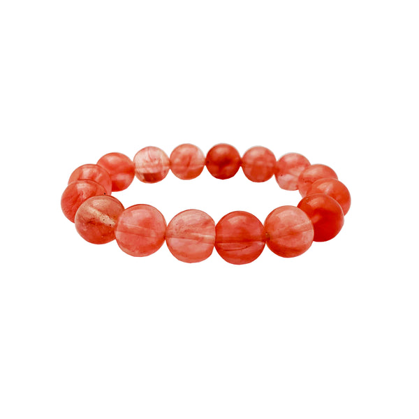 Rose Bead Jade Bracelet front - Popular Jewelry - New York