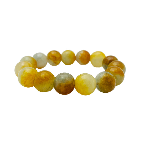 Light Brown ball Bracelet (Jade).