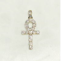 Pendant Diamond Ankh Out Iced (14K)