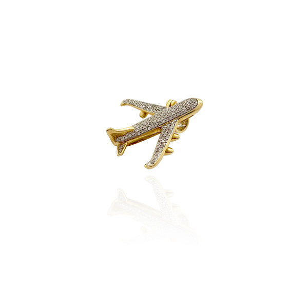 Diamond Airplane Pendant (10K)