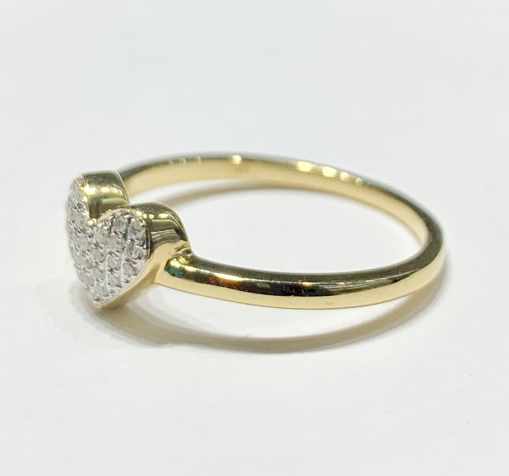 Heart Diamond Ring (14K).