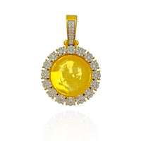 Diamond Memory Frame Medallion Pendant