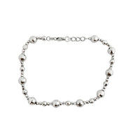 Diamond cut Ball Station Bracelet (14K).