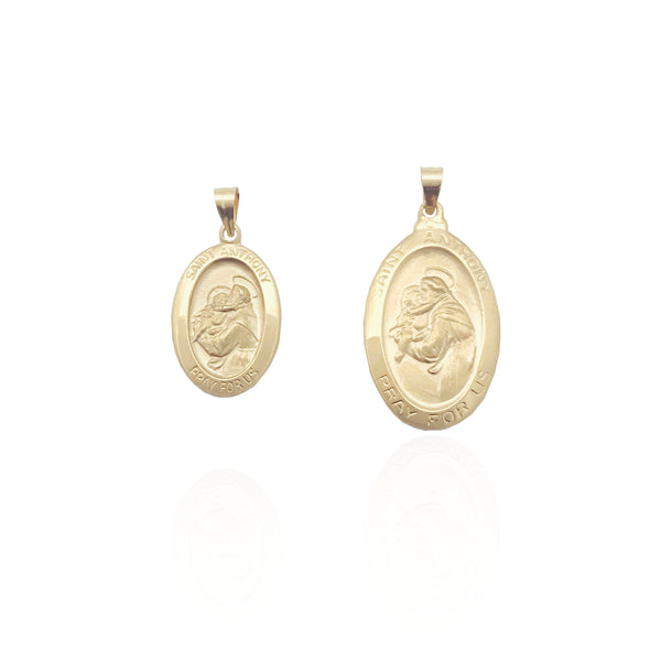 Saint Anthony Oval-Shaped Medallion Pendant (14K)