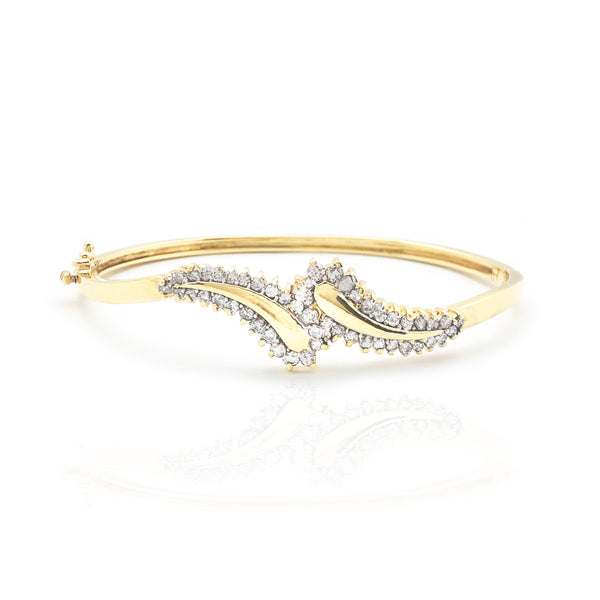 Endurtekið ferill Diamond Bangle Armband (14K)