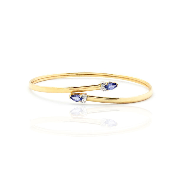 Tanzanite & Diamond Bangle Bracelet (14K)