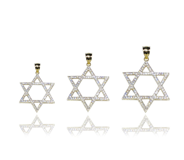 Star of David CZ Pendant (14K) - Lucky Diamond 恆福 珠寶 金 行 New York City 169 Canal Street 10013 Bijousgeschäft Playboi Charlie Chinatown @luckydiamondny 2124311180