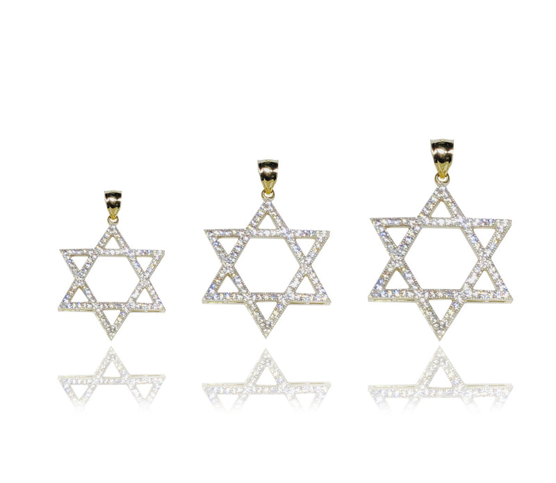 Star of David CZ Pendant (14K) - Lucky Diamond 恆福珠寶金行 New York City 169 Canal Street 10013 Jewelry store Playboi Charlie Chinatown @luckydiamondny 2124311180