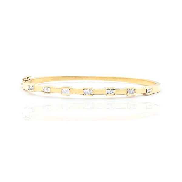 Shtatë byzylyk Diamond Bangle Diamond-Set (14K)