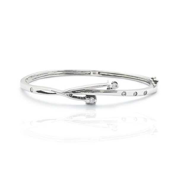 Rrathë byzylyk Baby Bangle Diamond (14K)
