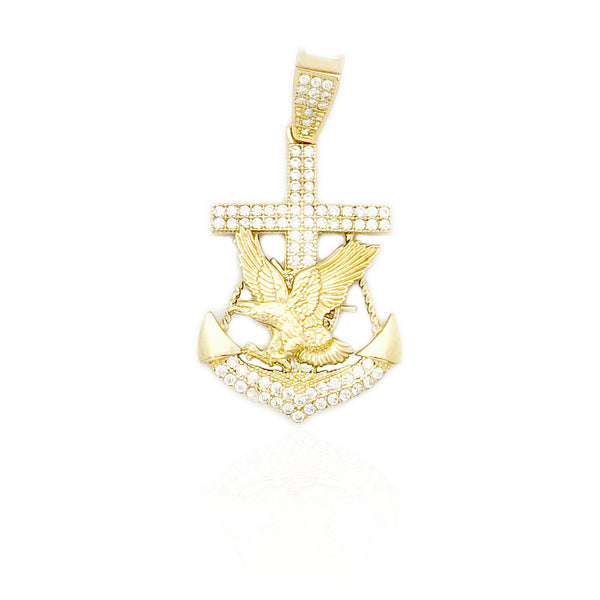 Flying Eagle Anchor CZ Hengiskraut (14K)