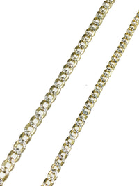 Two-tone Italian Cuban link (10K).
