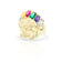 Indesche Chef Head Diamant-Cut & Multi-Color CZ Ring (10K)