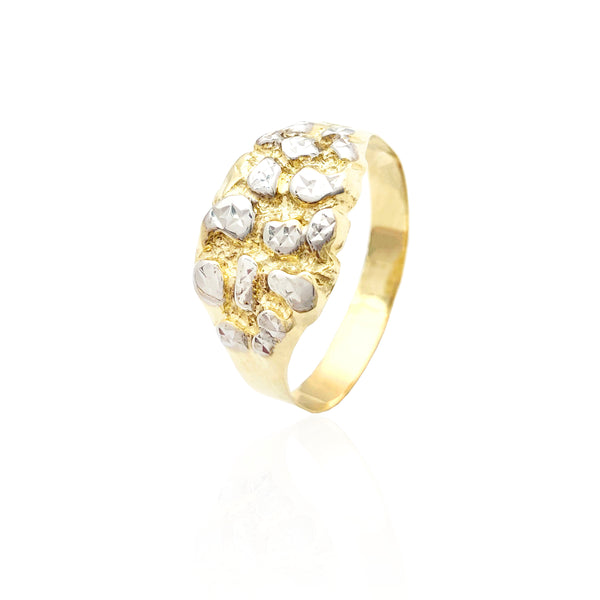 Two-Tone Nugget Ring (10K)