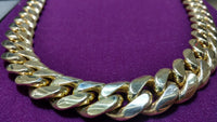 Solid Miami Cuban Link 14K Yellow Gold