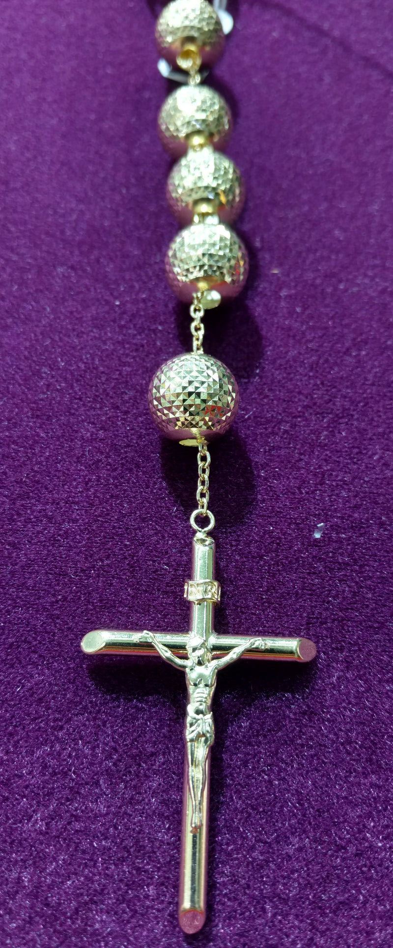 Rosary 14K Yellow Gold - Lucky Diamond 恆福珠寶金行 New York City 169 Canal Street 10013 Jewelry store Playboi Charlie Chinatown @luckydiamondny 2124311180