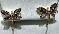 Diamond Dragonfly Earring 18K