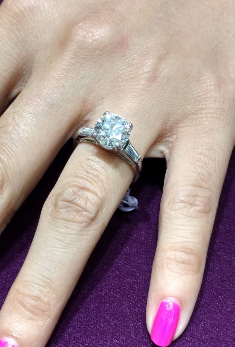 GIA 2.66 CT Diamond Engagement Ring (Platinum) - Lucky Diamond 恆福珠寶金行 New York City 169 Canal Street 10013 Jewelry store Playboi Charlie Chinatown @luckydiamondny 2124311180