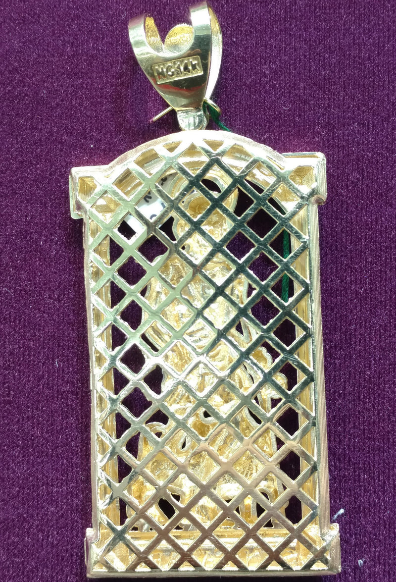 St. Lazarus Two-Tone Pendant 14K - Lucky Diamond 恆福珠寶金行 New York City 169 Canal Street 10013 Jewelry store Playboi Charlie Chinatown @luckydiamondny 2124311180