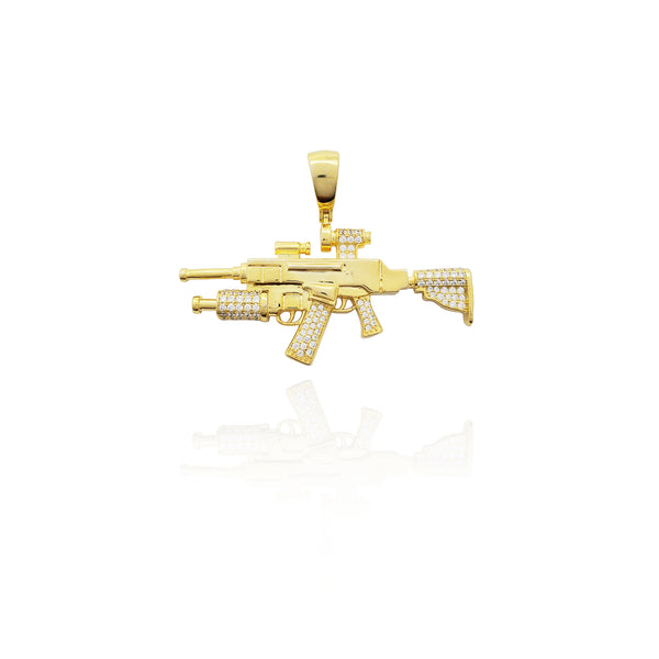 Grenade Launcher Assault Riffle (Argint) New York Popular Jewelry
