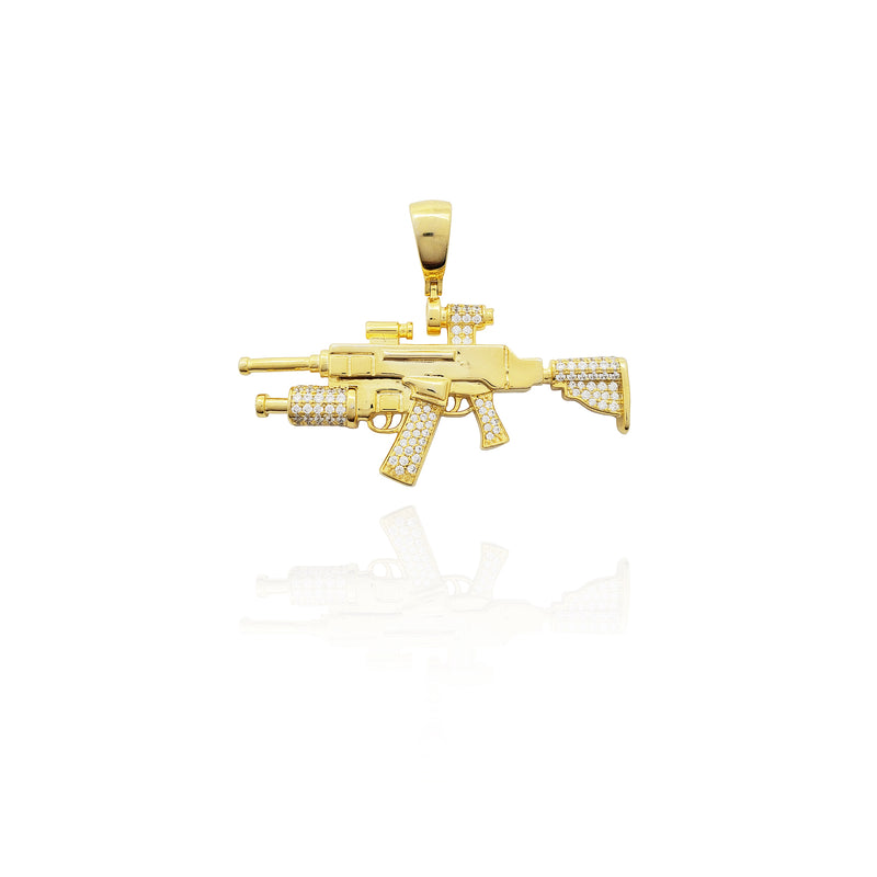 Grenade Launcher Assault Riffle (Silver) New York Popular Jewelry