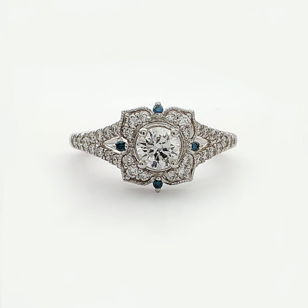 Diamond Flower Ring (14K)