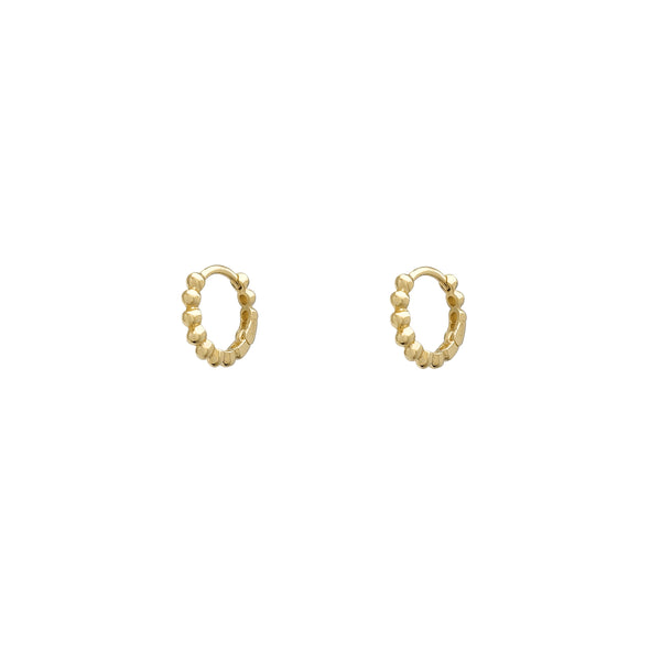 Kid's Beads Huggie Earrings (14K)
