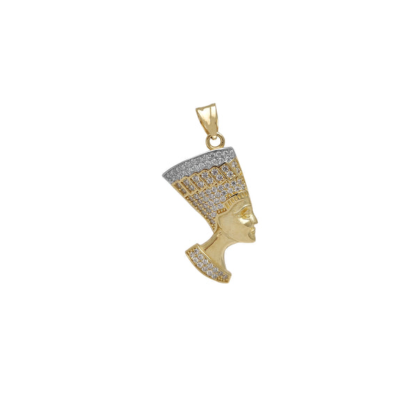 Zirconia Two-Tone Nefertiti Pendant (14K)