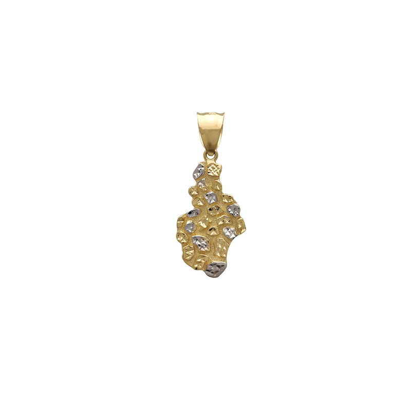 Two-Tone Nugget Pendant (14K)