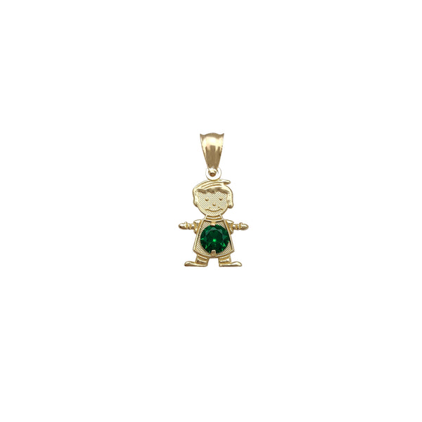 [Boy] Zirconia Little Kid Pendant (14K)