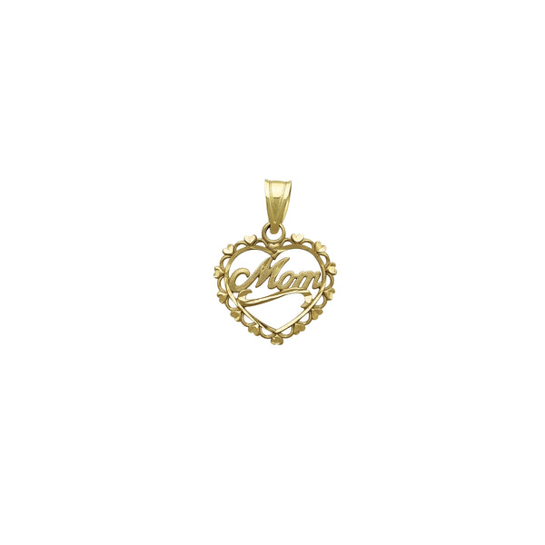 Heart Frame Mom Pendant (14K)