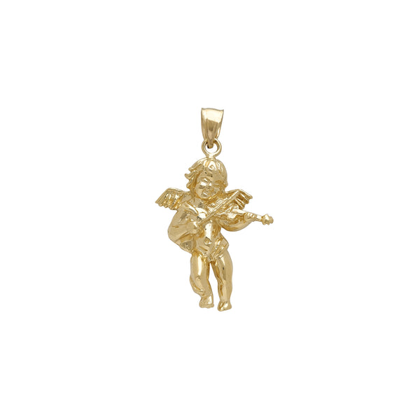 Baby Angel Playing The Violin Pendant (14K)